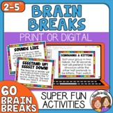 60 Brain Breaks Cards and Google Slides | Bonus Social Dis