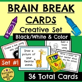 Brain Break Cards Creative Set with Interactive Cards to D