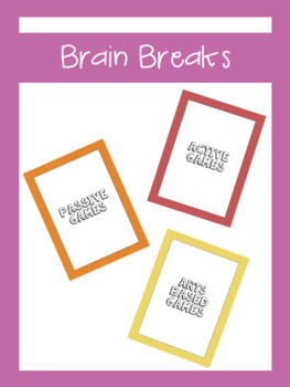 Brain Break Cards For All Ages