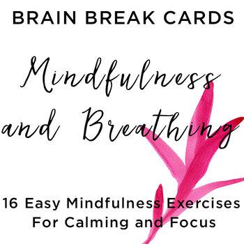 Brain Break Cards- Mindfulness