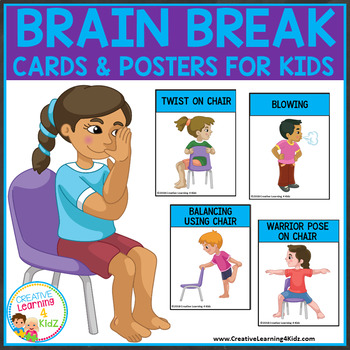Brain Break Cards & Posters for Kids