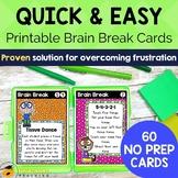 Brain Break Cards | Printable Brain Break Activities for C