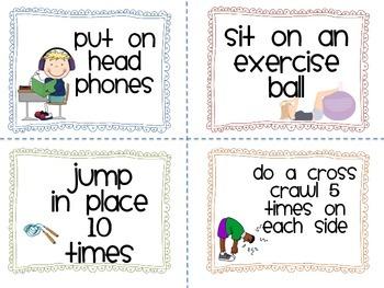 Brain Break Cards for the Classroom