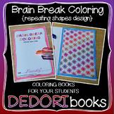Brain Break Coloring Book - Repeating Shapes Design