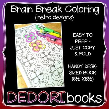 Brain Break Coloring Book – Retro Designs