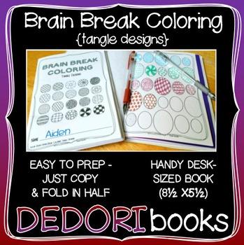 Brain Break Coloring Book - Tangle Designs