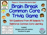 Brain Break Comon Core Trivia Game / 126 Questions Based on 2nd Grade Comon Core