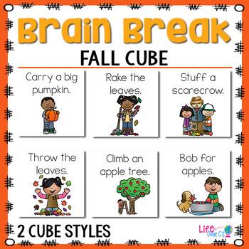 Brain Break Cube   Fall Theme