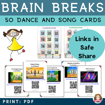 Dance teaching resources lesson plans teachers pay teachers brain break dance song cards with qr codes perfect back to school icebreakers fandeluxe Gallery