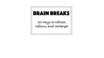 Brain Break Flip Cards