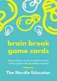 Brain Break Game Cards