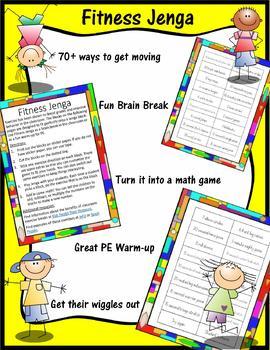 Brain Break Game - Fitness Jenga