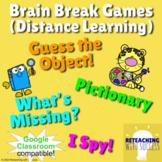 Brain Break Games (Distance Learning): Pictionary, I Spy,