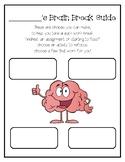 Brain Break & Growth Mindset Handout or Digital Resource