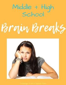 Interactive [Editable] Brain Break Choices