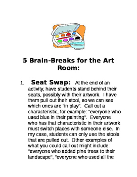 Brain Breaks for the Art Classroom