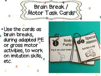 Brain Break / Motor Task Cards