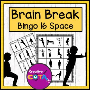 Brain Break Movement Bingo 16 Space