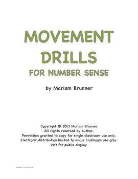 Brain Break Movement Drills for Number Sense Common Core