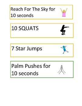 Brain Break! Movement/Exercise Cards