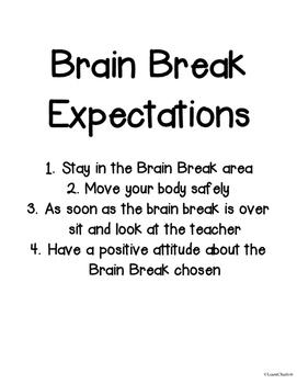 Brain Break Organizer