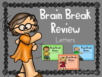 Brain Break Review Uppercase and Lowercase Letter Slideshow