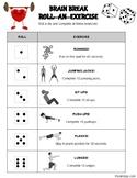 Brain Break Roll an Exercise