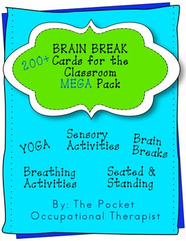 Brain Break, Sensory Activity Break, and Movement Card MEGA pack