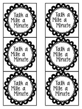 Brain Break - Talk a Mile a Minute