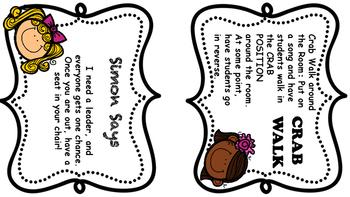 Brain Break Task Cards