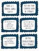Brain Break Task Cards - blue scallops