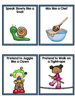 Brain Break and Sight Word Chant Action Cards
