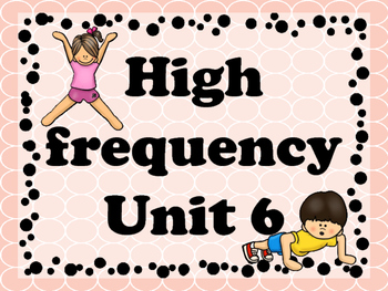 Brain Break with high frequency Unit 6 (journeys)