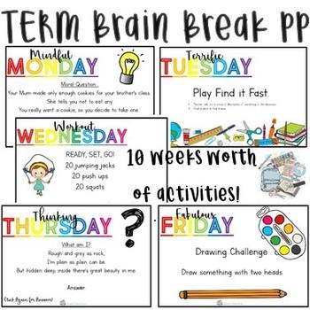 Brain Breaks - 1 Term