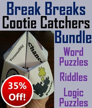 Brain Breaks Activities Bundle: Teasers, Riddles, Logic Puzzles (SCOOT!)