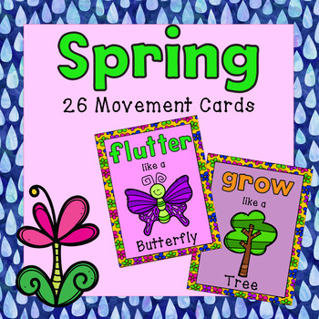 Brain Breaks - 26 Movement Cards (Spring Theme)