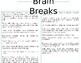 Editable Brain Break Cards
