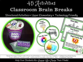 Brain Breaks: 45 Upper Elementary Brain Breaks