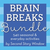 Brain Breaks Bundle for the Entire Year - Easy Prep, No Te