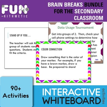 Brain Breaks Bundle for the Secondary Classroom