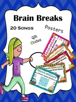 Brain Break Songs - 20 Songs with QR Codes