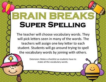 Spelling Brain Breaks