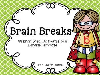 Brain Breaks {Editable}