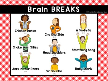 Brain Breaks Flipchart for Elementary Students