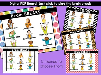 Brain Breaks Digital Board
