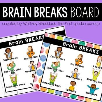 Brain Breaks Flipchart for Elementary Students