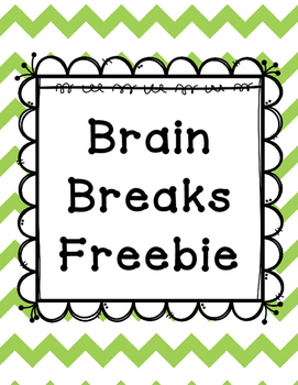 Brain Breaks Freebie