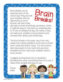 Brain Breaks with Editable Cards