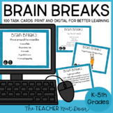 Brain Breaks Print and Digital for Google Classroom™ Dista