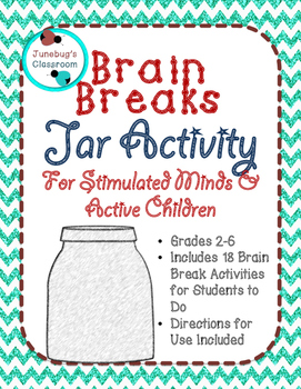Brain Breaks Jar Activity Slips for Stimulated Minds